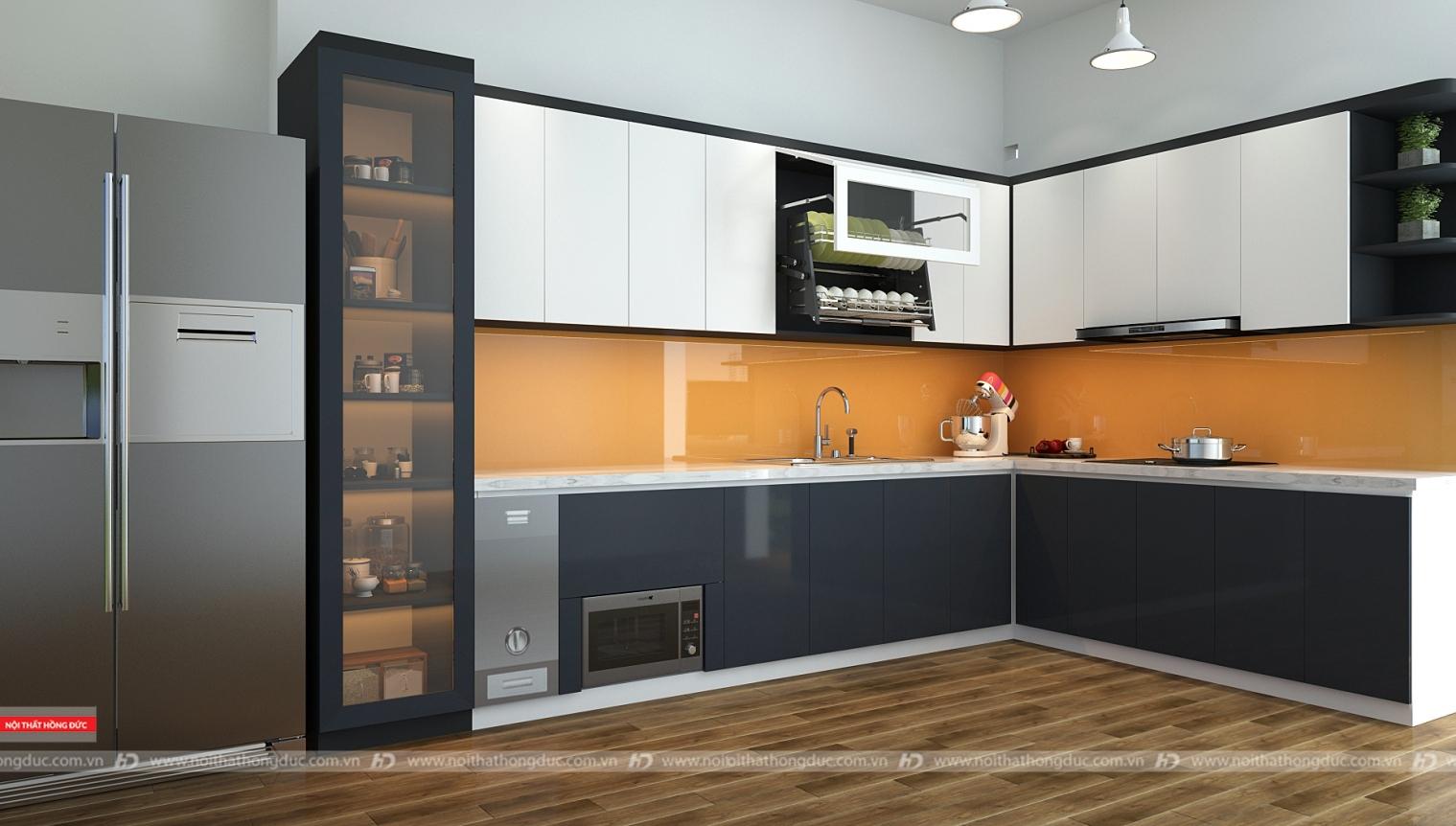 Thiết kế, thi công nội thất phòng bếp tại Thanh Hóa